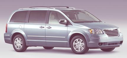 2008 Chrysler Town & Country Front 3/4 Side View Clearwater Blue. CH008_013TC