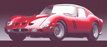 1962 Ferrari 250 GTO Manufactured by: Ferrari Photograph © Michael Furman The Ralph Lauren Car Collection Courtesy, Museum of Fine Arts, Boston  The enclosed image is provided to you solely for your use to illustrate original news stories or educational articles written and published prior to and within the duration of the exhibition (ending in July, 2005).  Please return or destroy this image after this time. By opening this file and accessing this image, you agree that you will make no use of the enclosed image inconsistent with these restrictions, and that you will not provide the enclosed image, or any copies or derivative versions of this image, to any third party other than as necessary to publish stories and articles as described above.  If you do not accept these restrictions, immediately return this file to the Public Relations Department, Museum of Fine Arts, Boston, 465 Huntington Ave., Boston, MA 02115, (617) 267-9300.