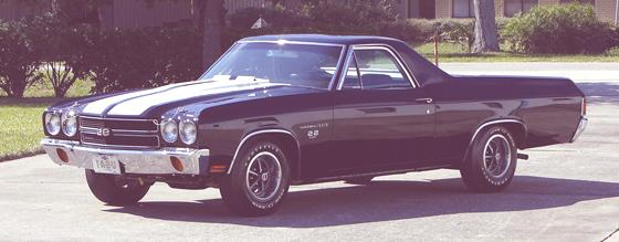 Historia de las Pick-Up  1970 Chevrolet El Camino SS